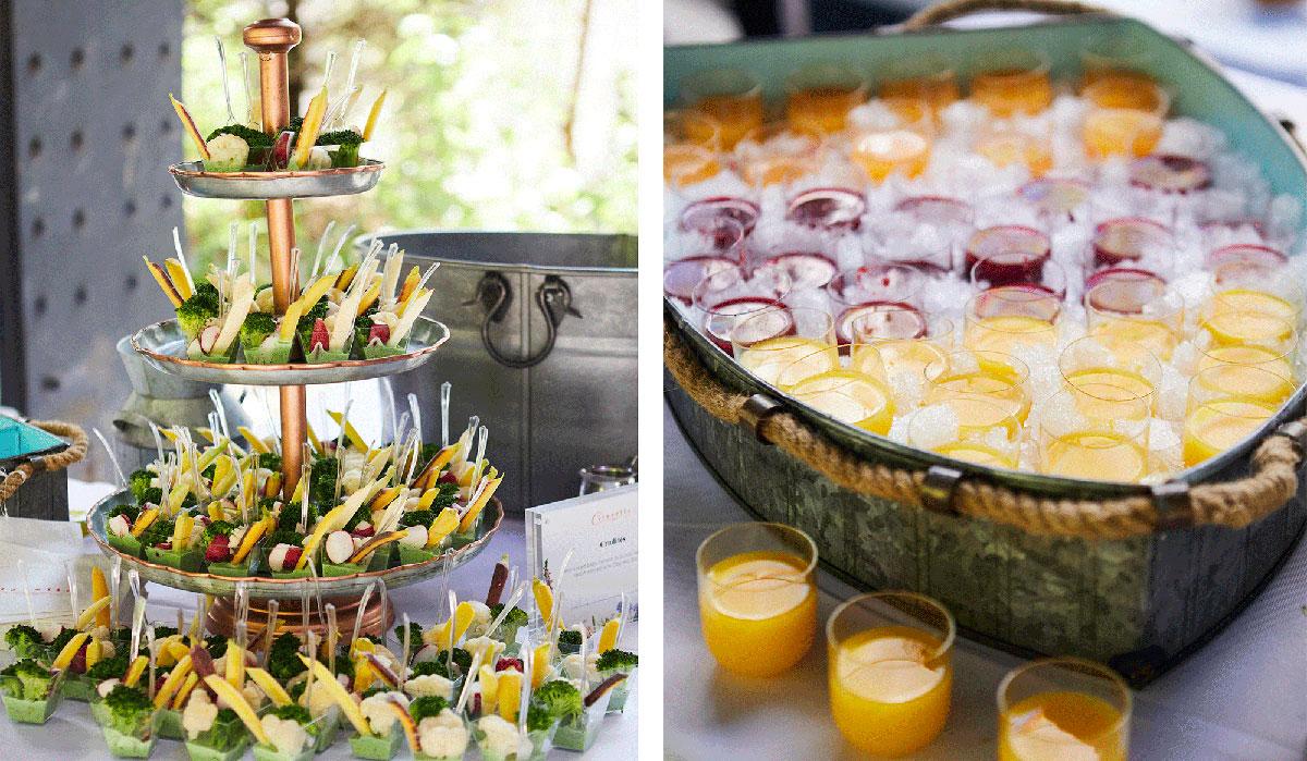 Healthy food, healthy food on a tray, healthy juices, orange juice