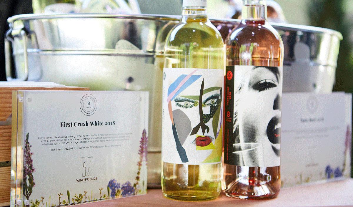 Wine bottles, wine bottles and bucket, white wine and rose