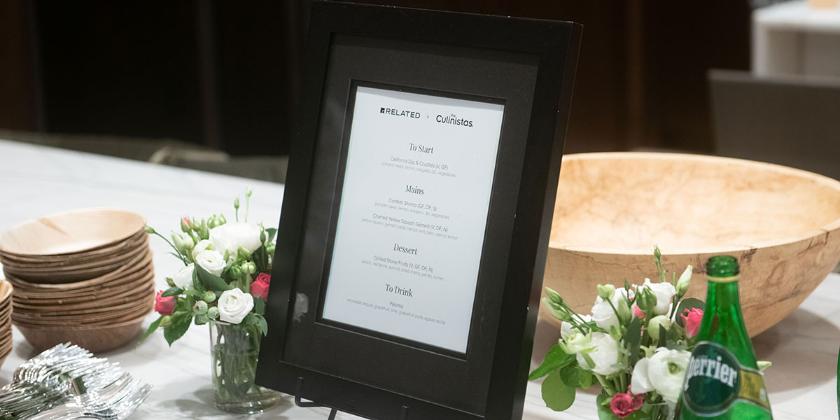 Menu in Picture Framed, Framed Menu, the Culinistas