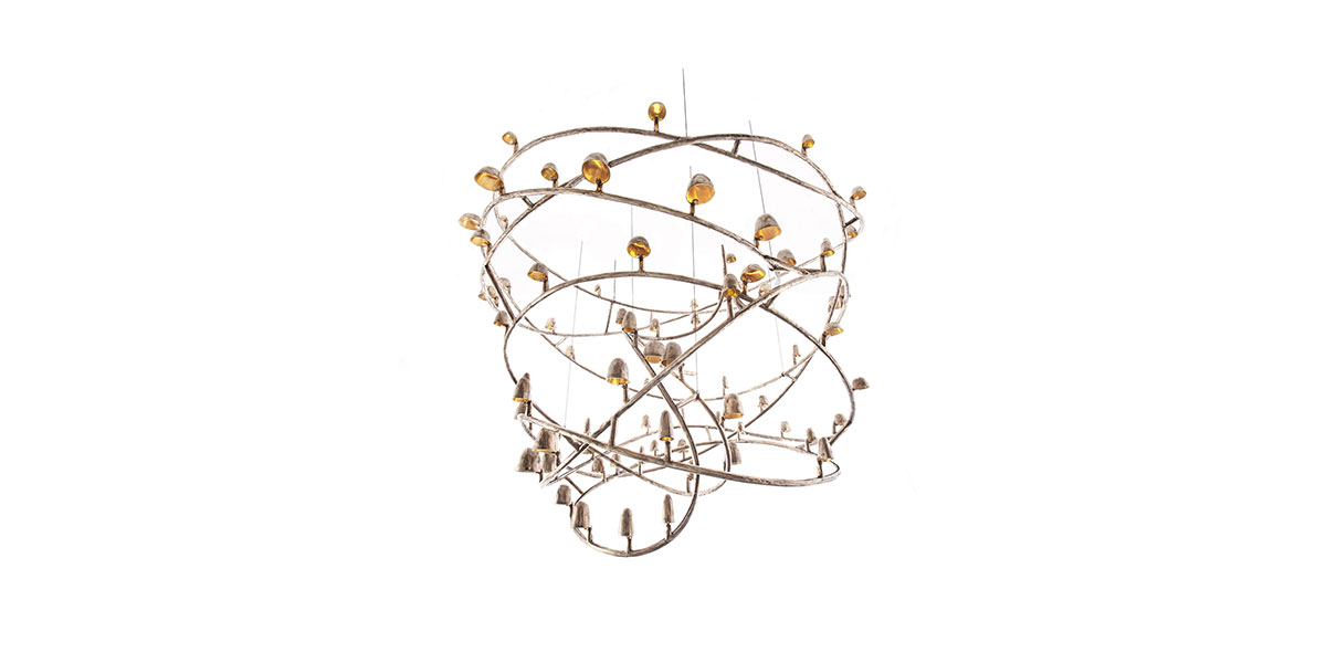 CL-Fatamorgana, Chandelier, Abstract Chandelier