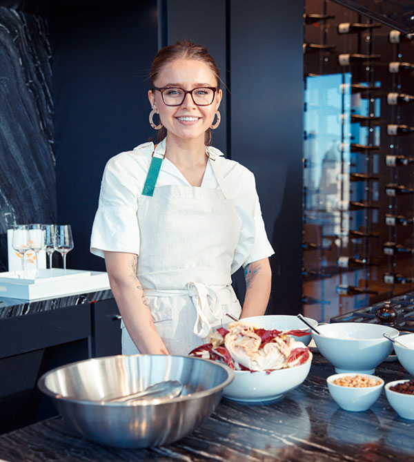 Kristina Preka, Chef, Chef Standing Behind Counter