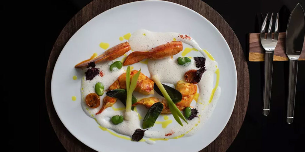 Food on plate, upscale dining, vegetables on plate