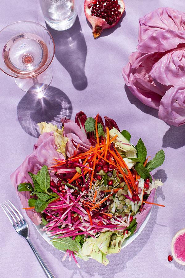 Youth + Beauty Salad, Sakara Life, Sakara Life Salad, Picnic, Pink Salad