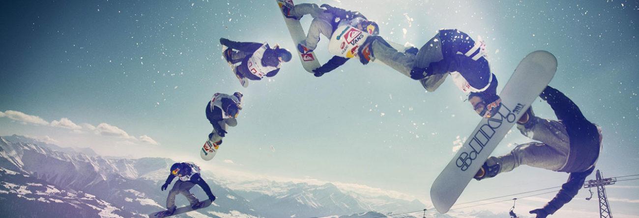 Snowboarders, snowboarders in the air, snowboarders jumping