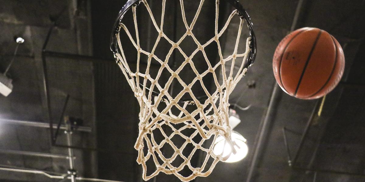 basketball net, shot, dribble, ball