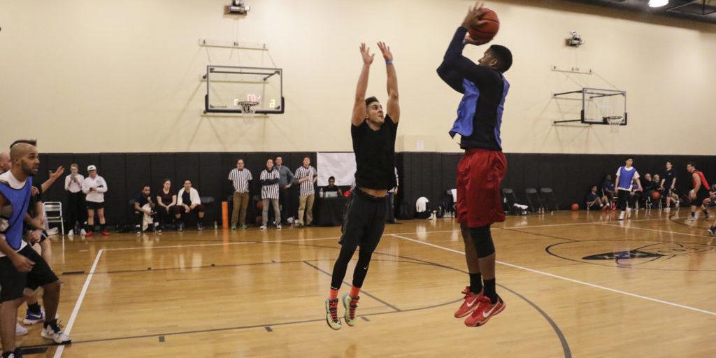 Block, defend, free throw, fade shot, basketball