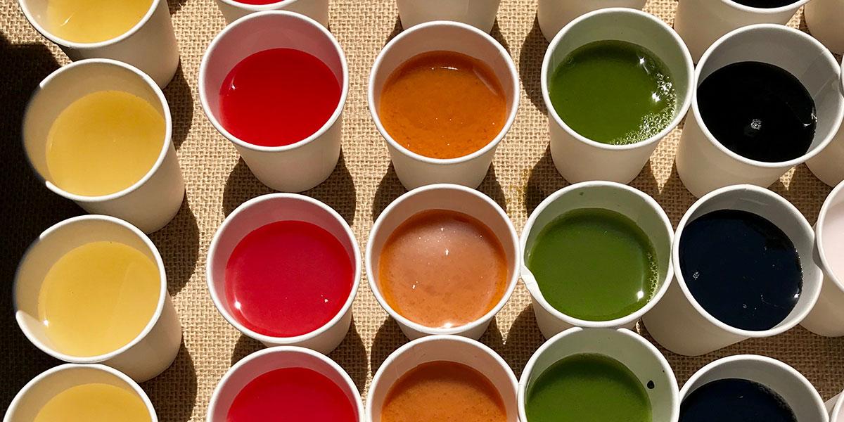 drink the rainbow, taste the rainbow, multi-colored drinks