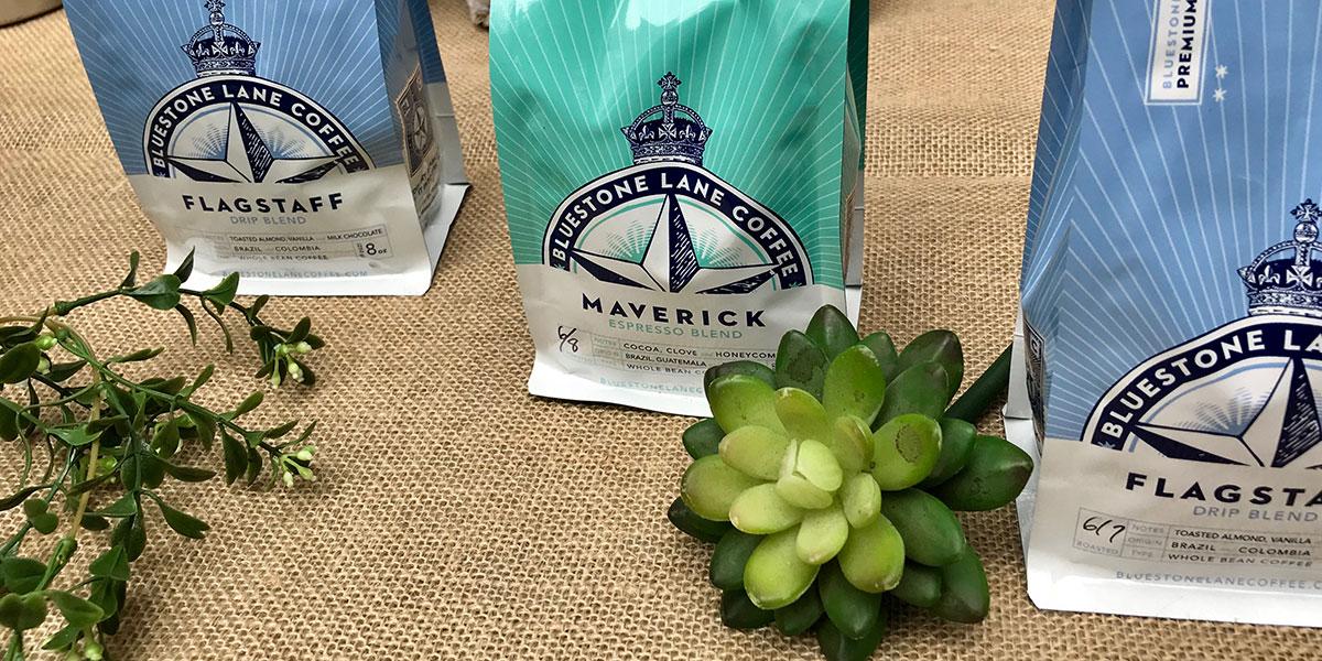 bluestone lane iced coffee, coffee, flagstaff, maverick, espresso blend, drip blend