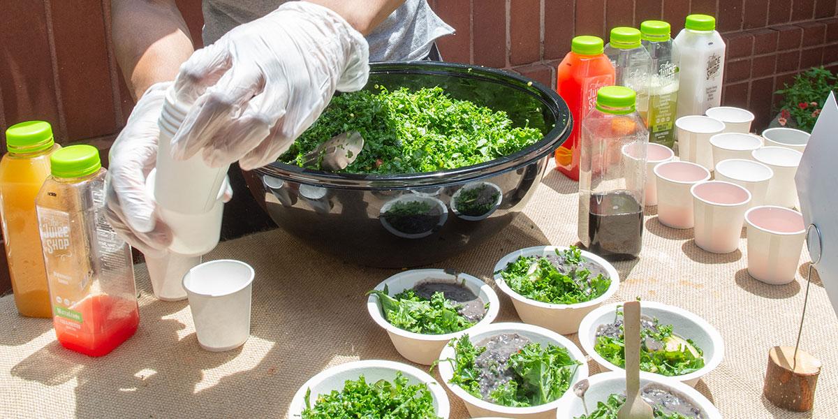 kale salad, the juice shop, how to make a kale salad