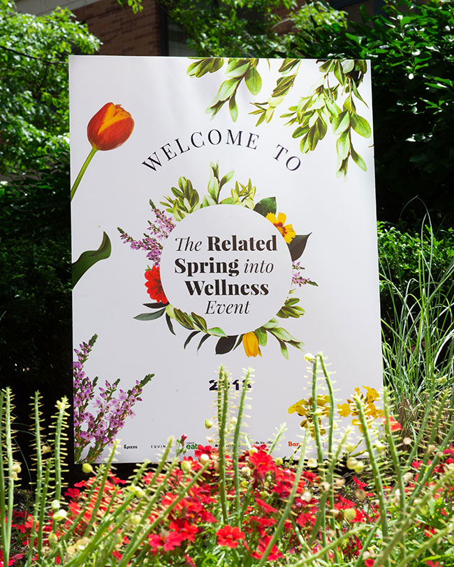 spring wellness, related events, greenery