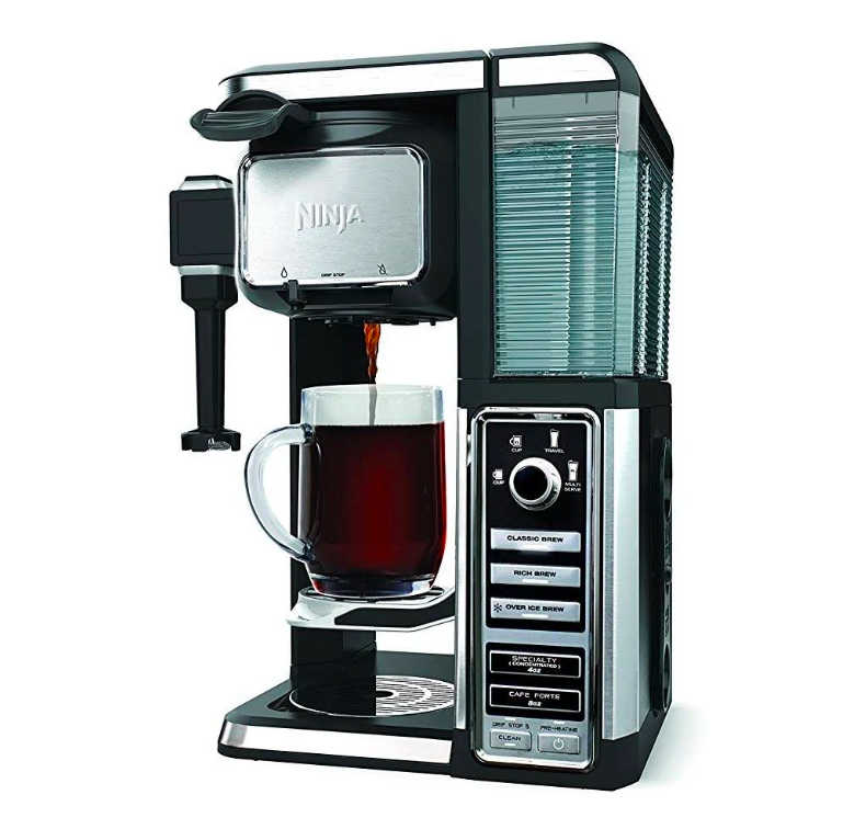 ninja, single serve coffee, sleek, interior design, modern