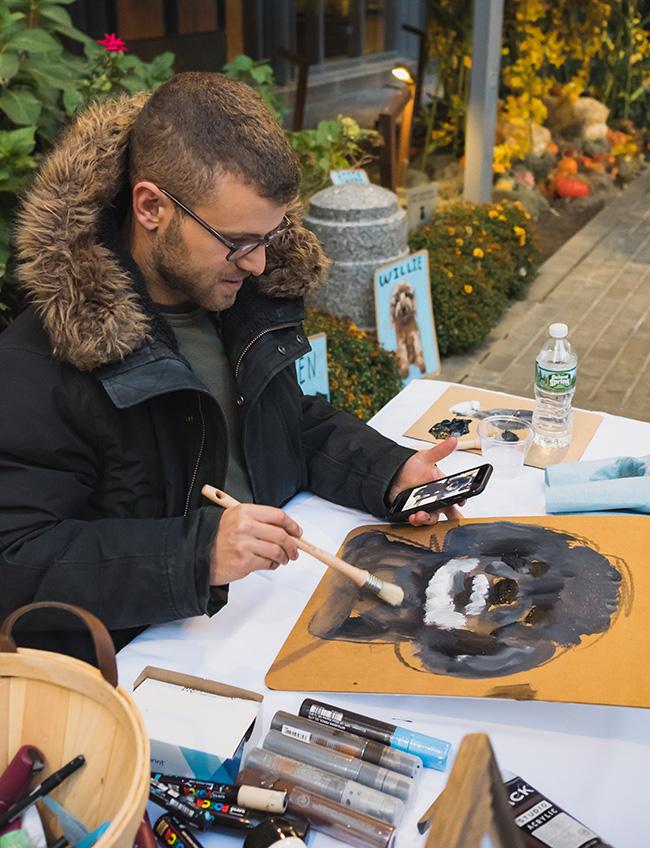 portraiture, dog portraits, painting