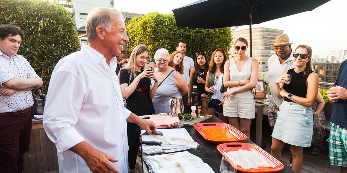 Joe Gurerra of Citarella's, Citarella's, branzino, how to cook a branzino, cooking demonstration