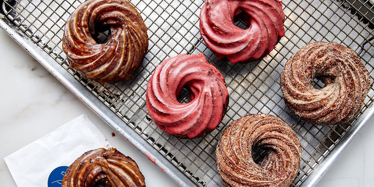 Daily Provision, crullers, crullers on a pan, Daily Provisions Upper West Side