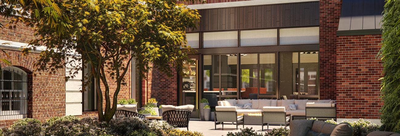 Whitney Hotel, whitney hotel boston, hotel courtyard