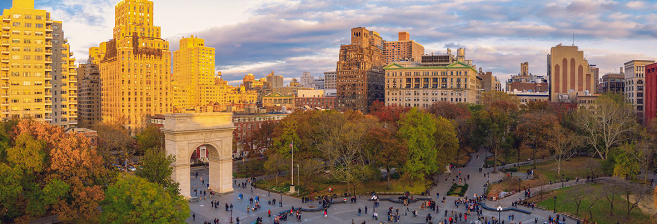 NYC in the fall, Washington Square Park, Washington Square Park in the Fall