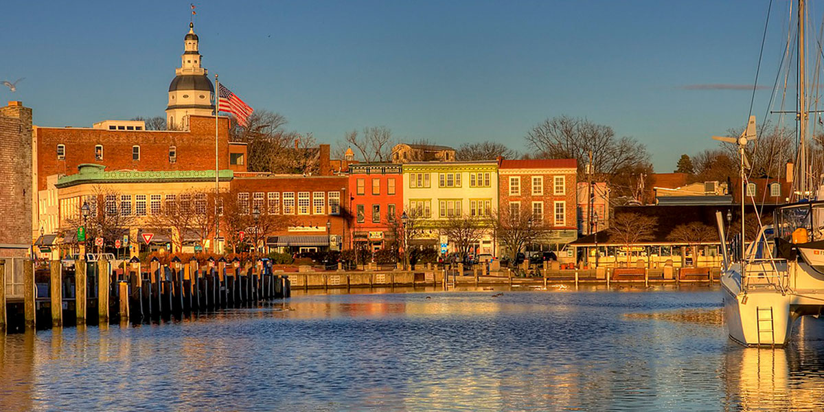 Annapolis, Maryland, City Dock in Annapolis, Dock in Annapolis, Annapolis sunset
