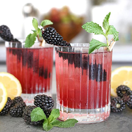 Blackberry Smash, blackberry smash recipe, mocktail recipes