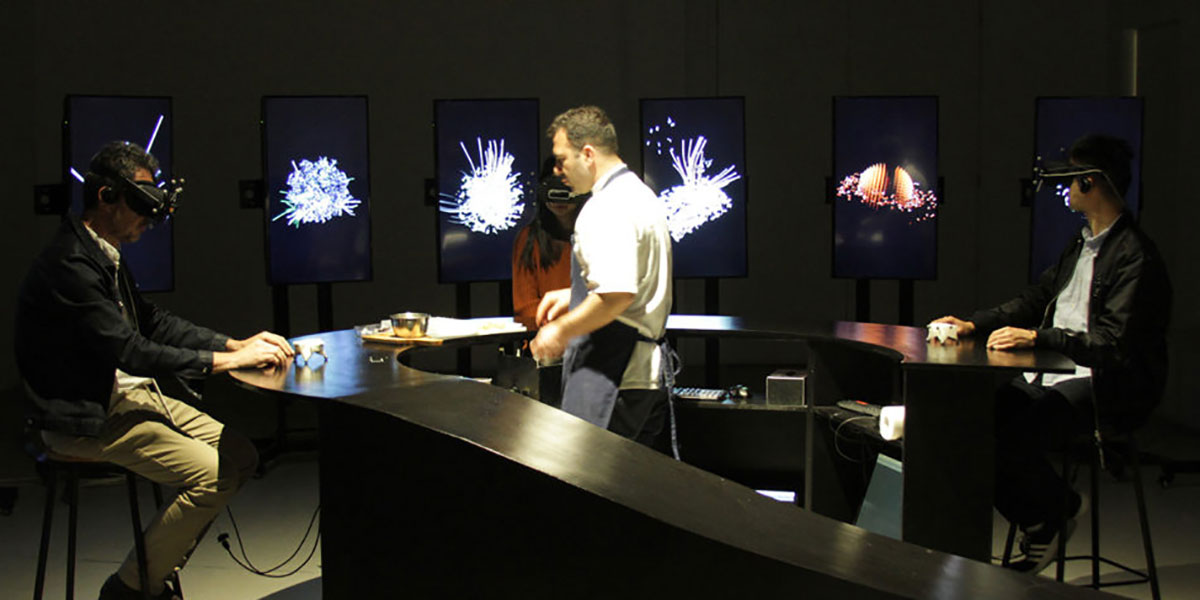 Aerobanquets RMX, virtual meal, virtual food