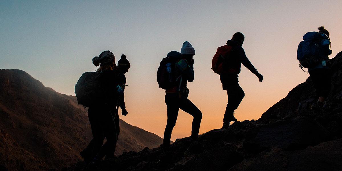 Equinox Explore, people hiking, sunset hike