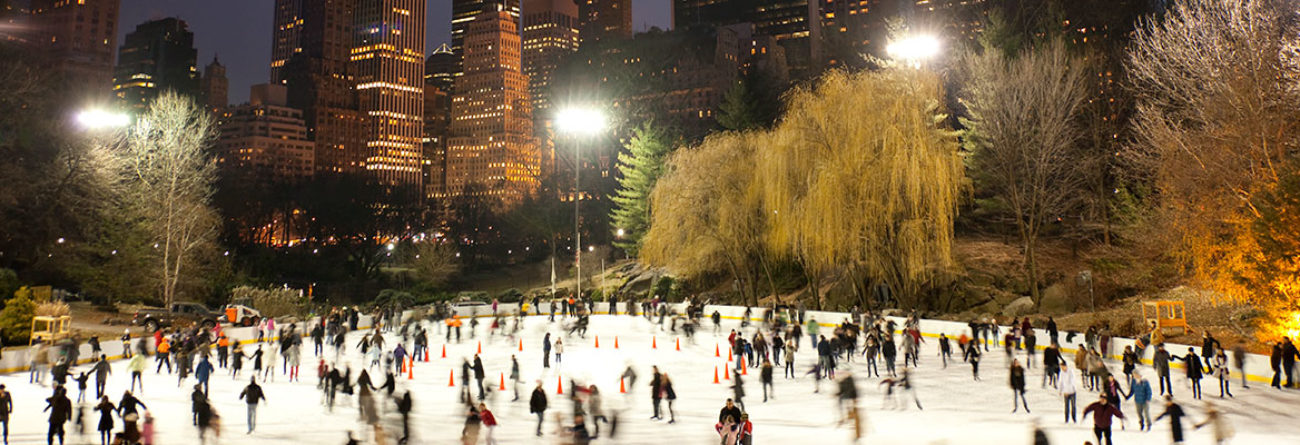 new york city ice skating, ice skating in nyc, central park, central park ice skating