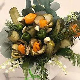 pickle bouquet, pickles