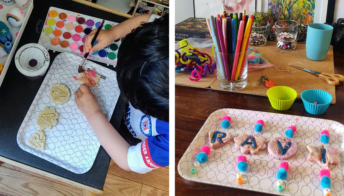 mother's day crafts, mobile craft making