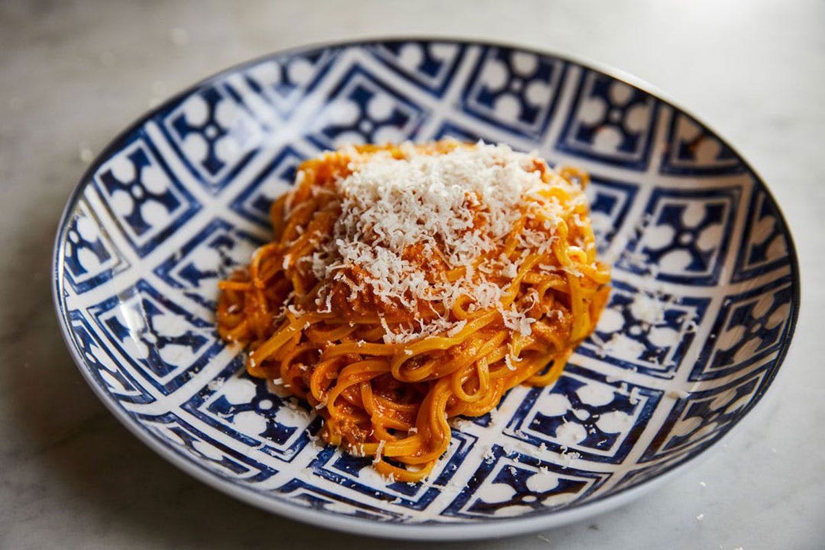 rezdora, plate of pasta, rezdora