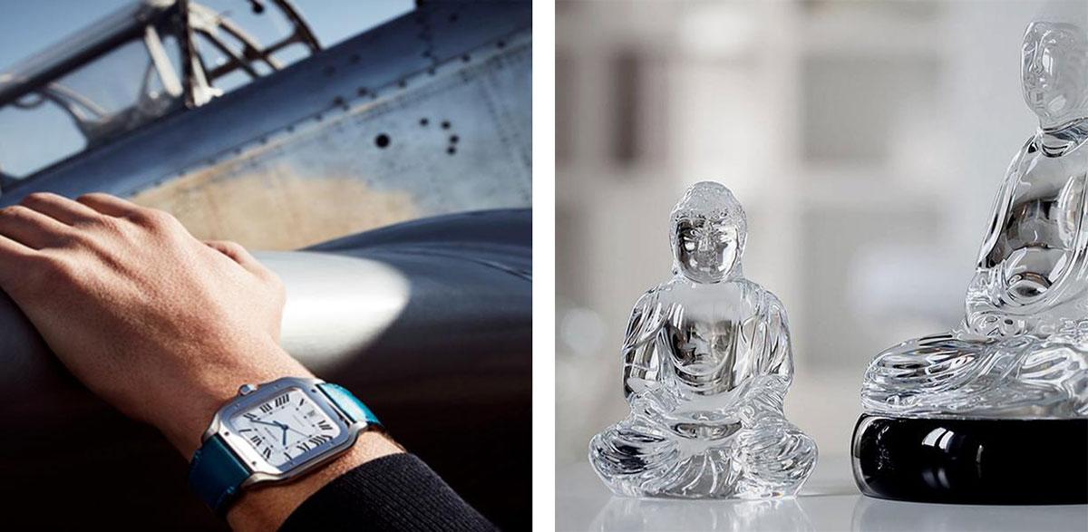 cartier, crystal buddha