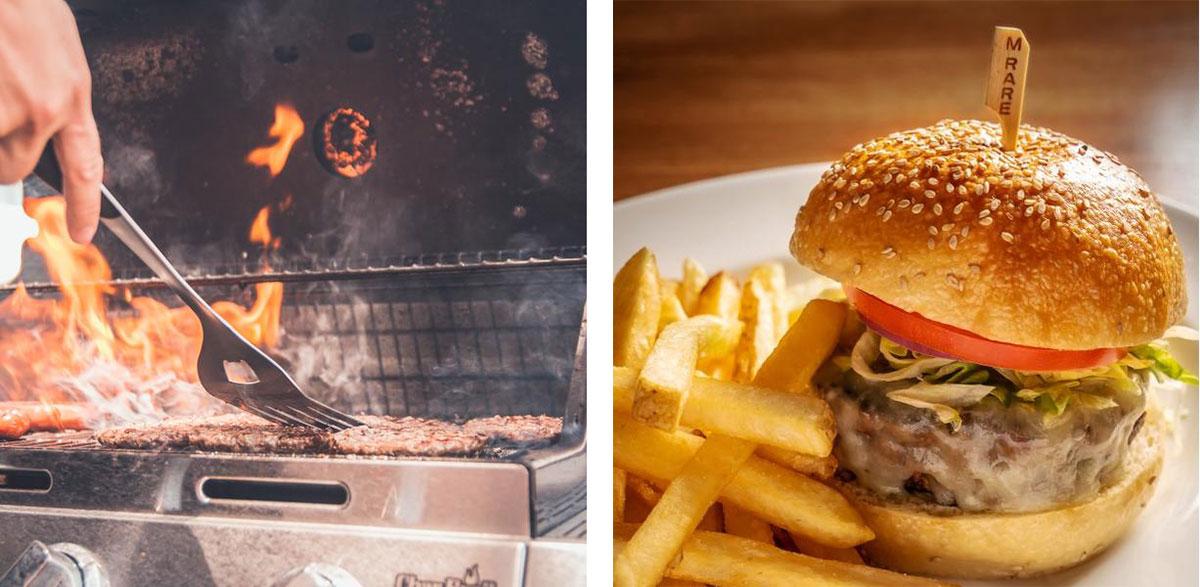 grilling, charcoal, hamburger