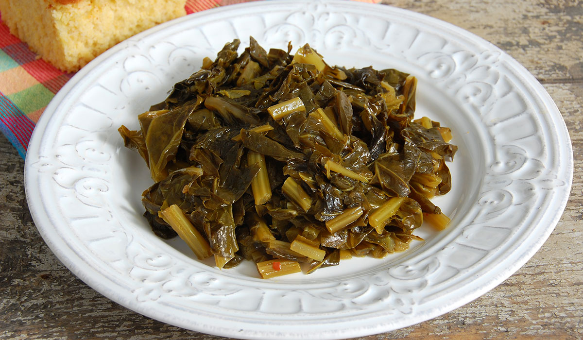 collard greens, collard greens cooked
