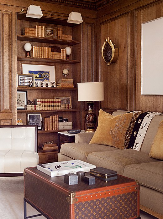 library, at home library, wood paneled library