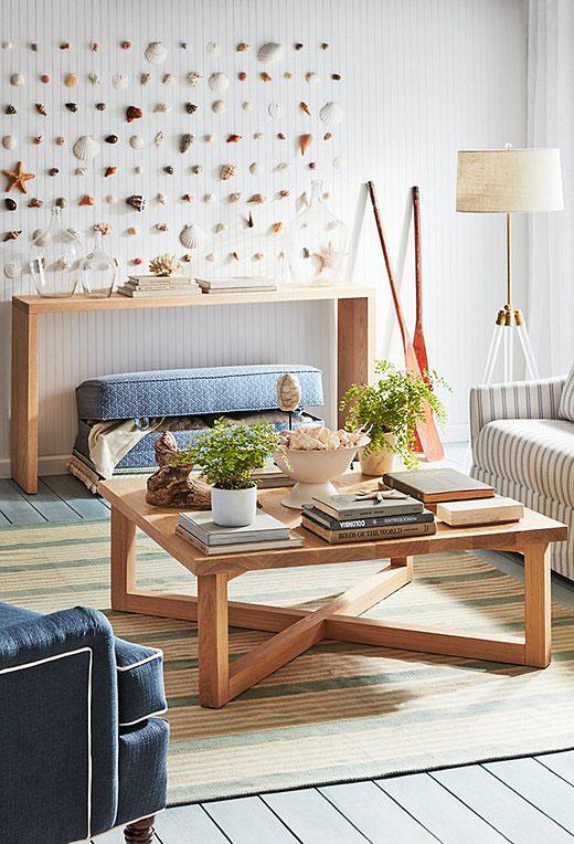 coffee table, coffee table light wood