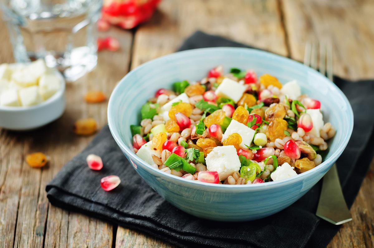 farro salad, farro salad recipe