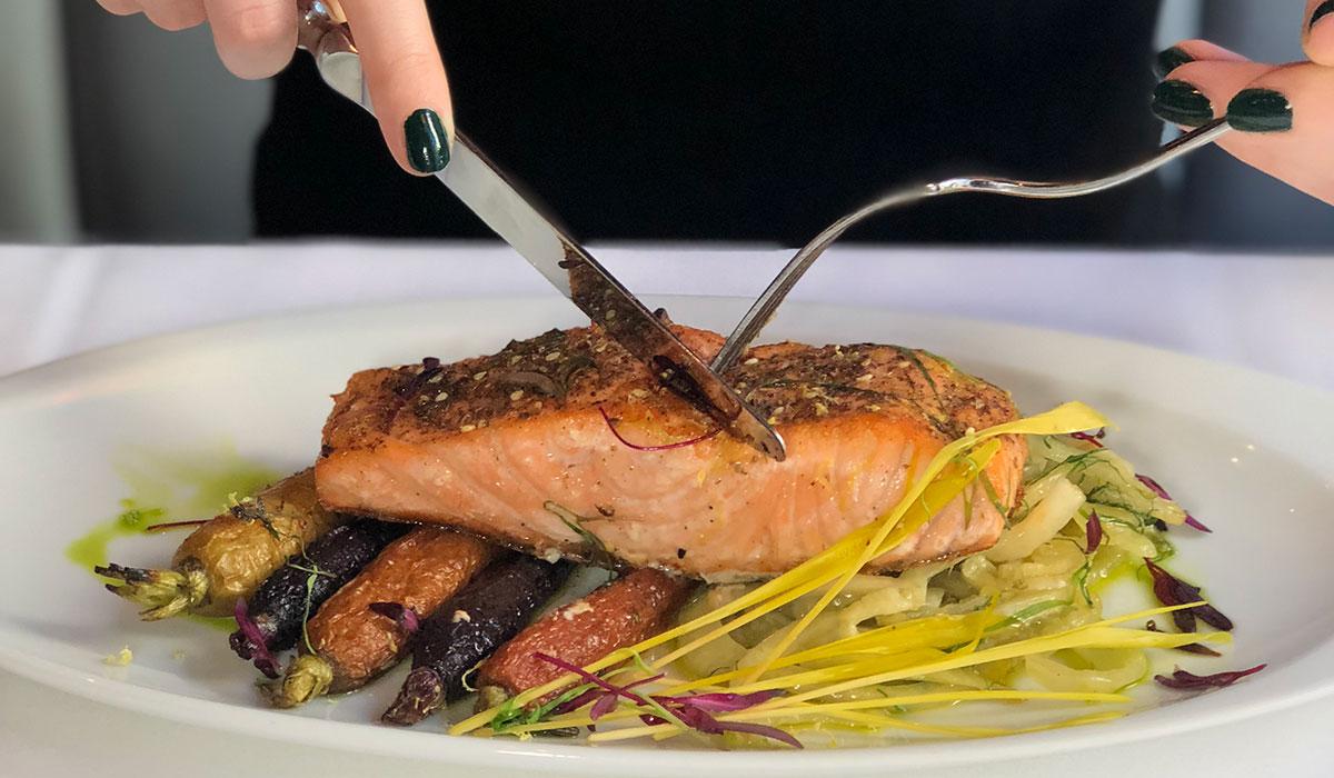 farro and salmon, farro and salmon recipe